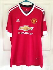 MANCHESTER UNITED FC ADIDAS HOME JERSEY 2015 2016 FOOTBALL SOCCER  MENS XL