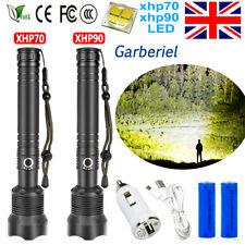 1000000 Lumens xhp90 xhp70 LED Ultra Bright 26650 Powerful USB Flashlight Torch