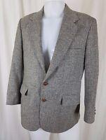 Mens 40S Ashby & Thornton Apex Pinstriped Gray Wool Sport Coat Jacket Blazer USA