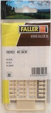 FALLER 180903 Sacks (40) 00/H0 Plastic Model Rail Accessory