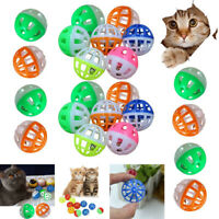 18Pc Pet Cat Kitten Play Balls With Jingle Bell Pounce Chase Rattle Toy Pet Gift