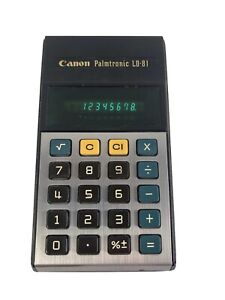 CANON Palmtronic LD-81 Calculator Green Led Computer Works Vintage