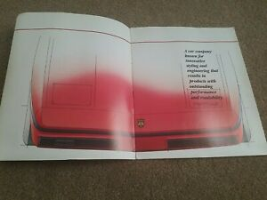 1984 Pontiac FIERO Info Salesman Booklet Dealer Display Showroom 16page RARE