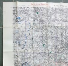 More details for ww1 1914 battlefield tour manual battle of marne maps army trench war office map