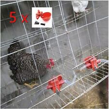 5 x Poultry Automatic Water Drinking Cups Chicken Hen Bird Plastic Drinker Quail