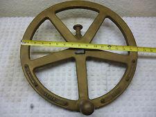 "Brass 16"" Ship's Crane hoisting wheel"