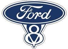 Vintage Ford V8 8 Sales Genuine Parts Emblem Decal BEST