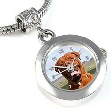 Dogue de Bordeaux / Bordeaux Bulldog Silver Watch European Bracelet Charm EBA164