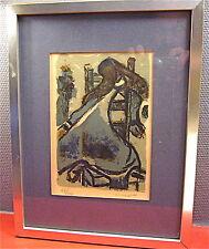 TRES BELLE Eau-forte couleurs de Crusat Roger( ENCADRE ) signé & numéroté