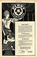 Pabst Brewing Ancient Egyptian Pharaoh Beer Advertisement 1895 great old print