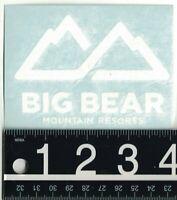 BEAR MOUNTAIN DECAL Big Bear Mountain Ski/Snowboard 4 in x 3 in White Sticker