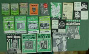 Collection of Cricket Annuals & Magazines from the 1940's and 1950's