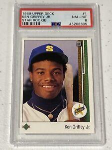 1989 Upper Deck Ken Griffey Jr Psa 8 🔥🔥🔥 Star Rookie