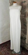 New Ivory Embroidered Strappy Sheath Wedding Dress by Ronald Joyce Size 14