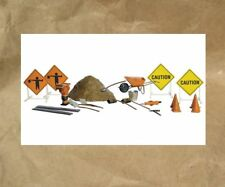 NEW ~ Woodland Scenics ROAD WORK DETAILS ~ Mayhayred Trains N Scale Lot
