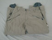 RIDE Snowboards Cell 5 Gray Cargo-Style Waterproof Breathable Shell Pants XL
