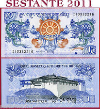 BHUTAN  -  1 NGULTRUM 2006  -  Sign 5  -  P  27a  -  FDS / UNC