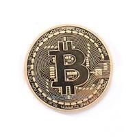 Gold Plated Bitcoin Coin Collectible Physical BTC Coin Art Collection w/ Case