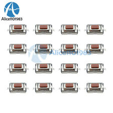 20pcs 3x6x25mm Tactile Push Button Switch Tact Switch Micro Switch 2 Pin Smd Al