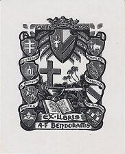 EX-LIBRIS ALEXANDER BENDORAITIS (1919-1998) par ALBERT HAEFELI - LITUANIE.