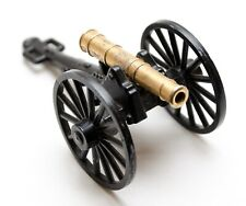 Vintage Civil War Style Brass & Iron Cannon Made In Italy Military Decor