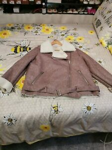 Ladies Flying Jacket In Lilac/Heather Colour Size 20
