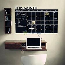 60x100 Month Plan Calendar Chalkboard Study Blackboard Vinyl Wall Sticker Decal