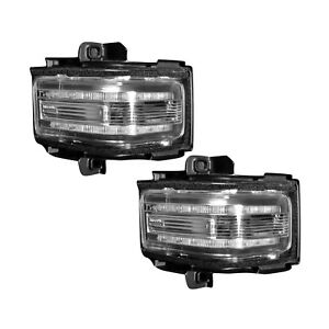 Recon Side Mirror Lens LED Clear 2pc For 17-21 Ford F250 F350 F450 264245WHCLX