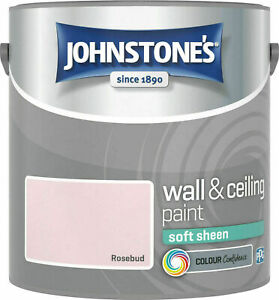 Johnstones Wall Ceiling Soft Sheen Emulsion Paint 2.5 Litres - ALL COLOURS