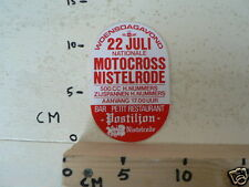 STICKER,DECAL NISTELRODE NK 22 JULI 500CC,ZIJSPANNEN MX CROSS