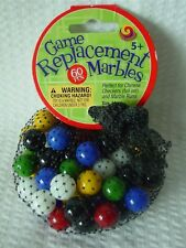 """60 Mega Net Game Replacement Marbles-Chinese Checkers-14mm(1/2"""")All Colors"""