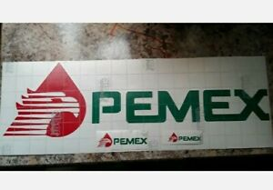 """Pemex Sticker Decal 5"""" inch to 19"""" inch vinyl *COLOR OPTIONS* for any flat surf."""
