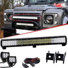 "25"" 162W LED Light Bar Combo+2x 4"" Fog Lamp for Land Rover Defender Front Bumper"
