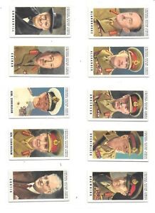 Joseph Lingford Set 36 British War Leaders in VG/exc condition