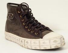 VISVIM Mens Dark Brown Leather Distressed PORCELLA HI ALU Lace-Up Shoe 10