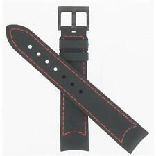 Hamilton 20mm Black Rubber Khaki Air Chronograph Watch Band H600745104