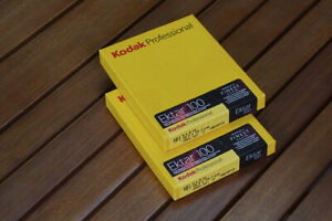 Kodak Ektar 100 color negative 4x5 Film,  2 boxes 10 Sheets each 4x5 8/2013