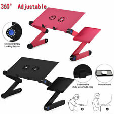 With 2 Cooling Fan Foldable laptop Notebook Desk Table Fan Hole Stand Bed Tray