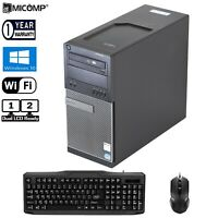 Fast Dell Tower Computer PC Intel I5 3.20Ghz 8Gb Large 1TB HDD Windows 10 WiFi