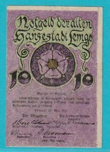 Notgeld 4920 Lemgo 10 Pfennig aus 1921