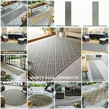 FLORENCE MORETTI GEOMETRIC FLATWEAVE OUTDOOR AND INDOOR RUG RUNNER ROUND MAT