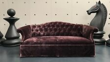 GEORGE SMITH CHIPPENDALE BUTTONED CHESTERFIELD LARGE SOFA IN VELVET RRP £11000