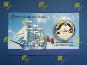 PERU 2021 ONE SOL SILVER COIN BICENTENNIAL OF THE PERUVIAN NAVY OF WAR