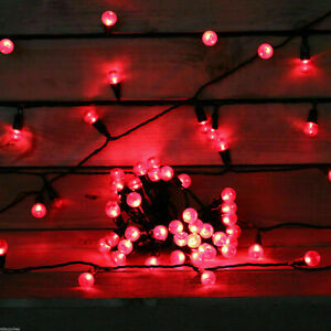 50 LED Red berry fairy decorative string lights Christmas XMAS outdoor indoor