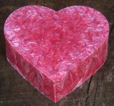 100hr PROSECCO & ROSE Scented Love Heart ECO CANDLE MELT for Oil Burner / Melter
