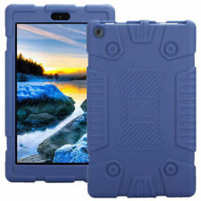 Shockproof Soft Silicone Case Cover for 7inch Amazon Kindle Fire 7 2017 Tablet Blue