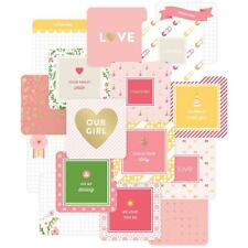 "PROJECT LIFE ~ 4"" x 4"" Cards 12 pack ~ Baby Girl ~ includes Gold Foil 380524"