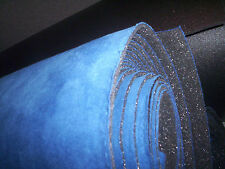 """75"""" x 61 """"  Blue SUEDE Foam Backed Suede Headliner Material FREE Shipping Rolled"""