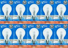10 x 60W Clear Light Globes / Bulbs E27 Screw Halogen Warm White Dimmable A60