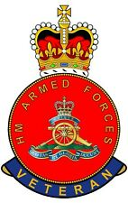 Royal Artillery HM Armed Forces Veterans Clear Cling Sticker